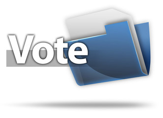 "3D Style Folder Icon ""Vote"""