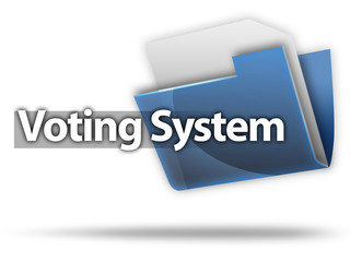 "3D Style Folder Icon ""Voting System"""