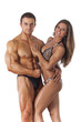 Portrait of young fitness couple