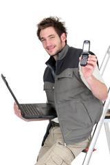 Handyman advertising his services