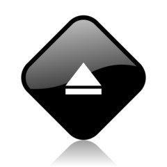 eject black square glossy internet icon