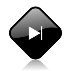 next black square glossy internet icon