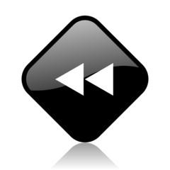 scroll black square glossy internet icon