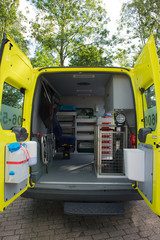 Interior ambulance for animals