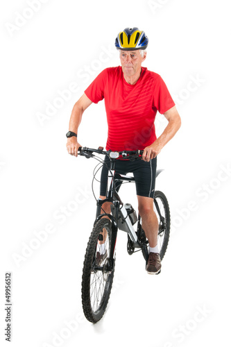 Senior mountainbiker