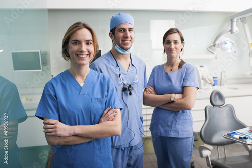Portrait of a dentist team