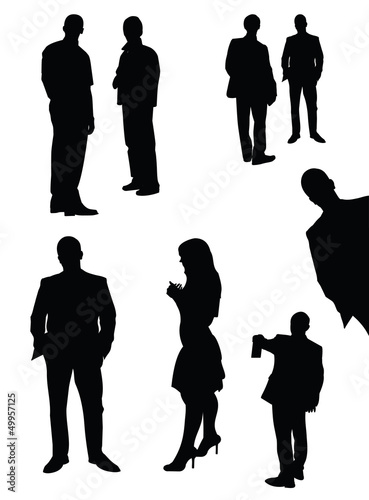 Vector set of manager silhouettes