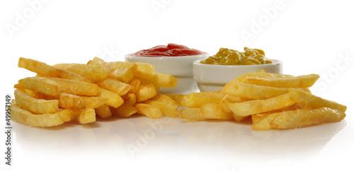 Poster Tentempié de patatas fritas.
