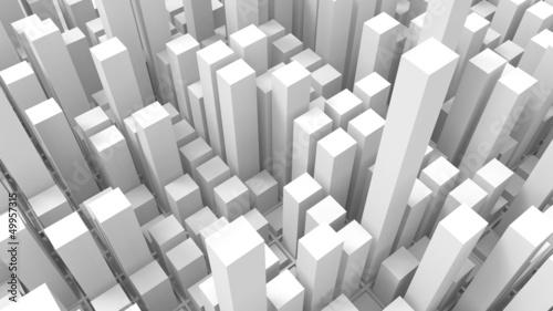 Fototapete Geometric shapes - Blickwinkel - Hintergrund