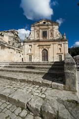 europe, italy, sicily, baroque facade church in Scicli
