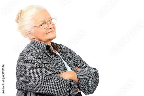 serious grandma