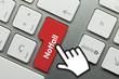 Notfall Tastatur Finger