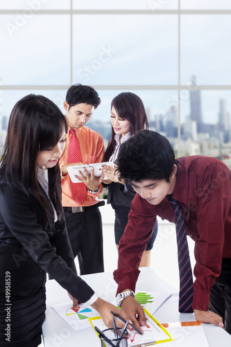 Asian business discussion