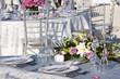 canvas print picture - Tavolo con composizione floreale per matrimonio