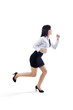 Businesswoman running gesture