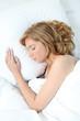 blonde woman sleeping