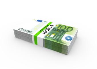 Ein Bündel 100€ Noten mit Bandarole