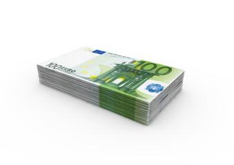 Ein Bündel 100€ Noten