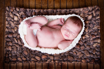 newborn infant baby sleeping