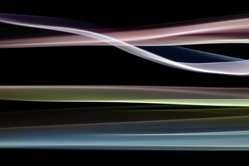 Abstract Smoke Waves On Black Background