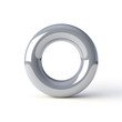 torus silver on a white background
