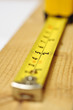 Tape measure on wood