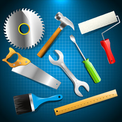Construction tools - vector set