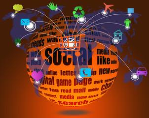 social media  on the world