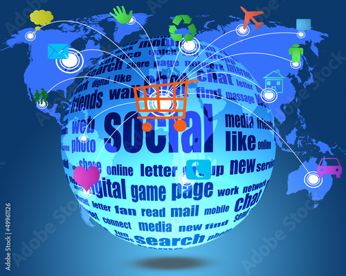 social media  on the world