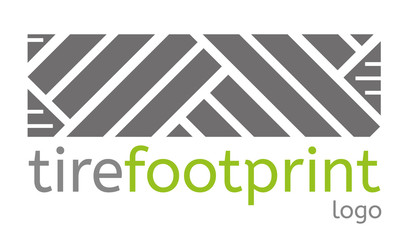 Tire footprint logo