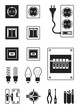 Electrical network devices - vector illustration