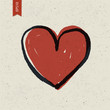 Heart sign on paper texture. Vector, EPS10