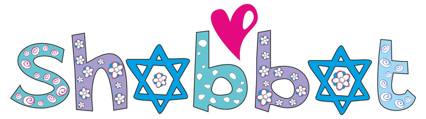 Holiday Shabbat design - jewish greeting background, vector