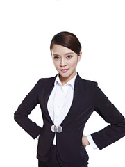 studio portrait of an asian business woman