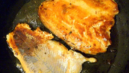 fish on frypan