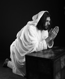 Jesus Christ of Nazareth praying