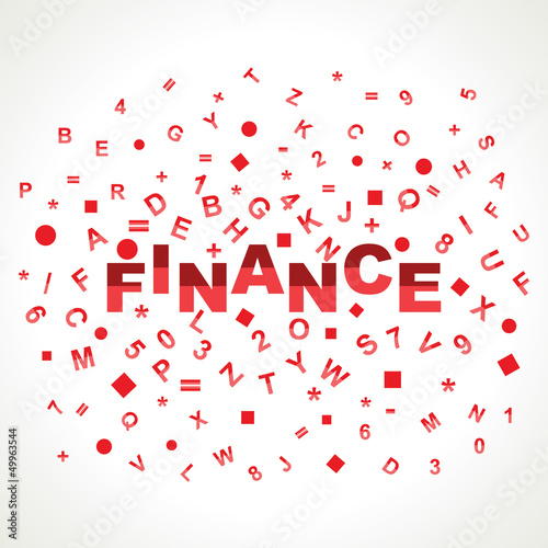 Finance word with in alphabets
