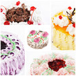 Collage of various cakes