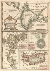 1747 North Atlantic islands map
