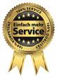 Einfach mehr Service - Goldvignette