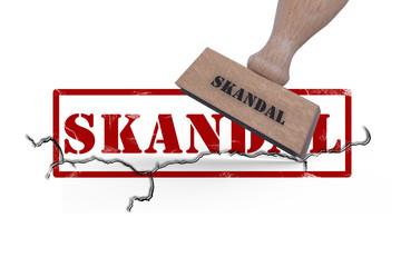 Scandal Logo mit Stempel