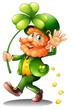 An old man celebrating St. Patrick's Day