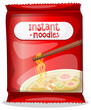 A pack of an instant noodles