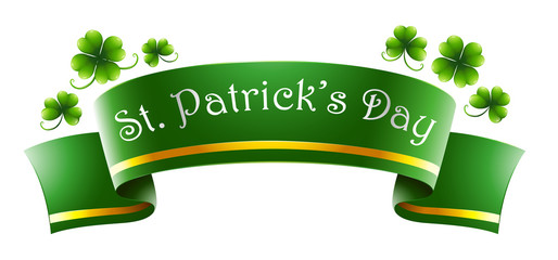 A green symbol for St. Patrick's Day
