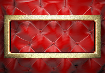 gold on fabric background