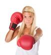 woman boxe guard