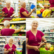 Senior woman during shopping.