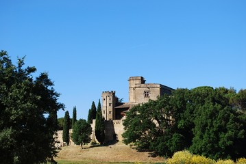 Castle in Lourmarin village, Vaucluse, Provence, France