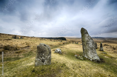 Scorehill Stone Circle on Dartmoor