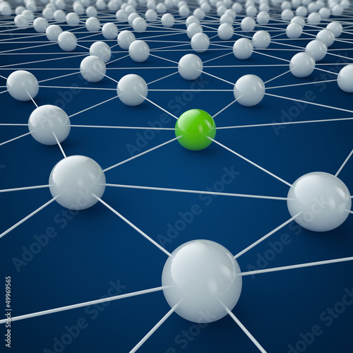 Internet und Social Media - 3D Grafik / 3d Illustration